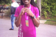 Joyce Shamedje races to 5th lady in the Bournemouth Marathon.