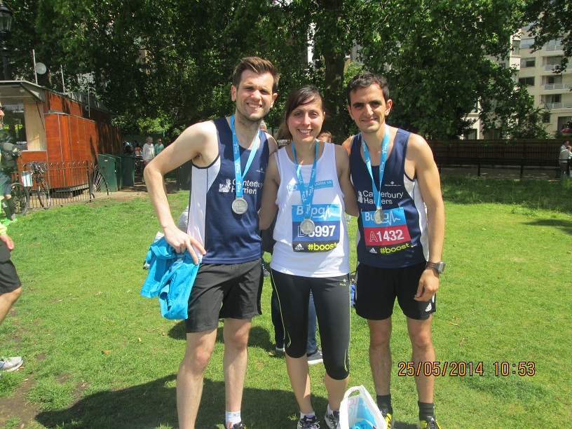 Tom Millard, Yiannis Christodoulou and Melanie Georgiades all PB at the Bupa 10K