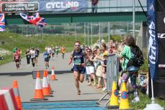 Adam Stokes finishing the Kent Roadrunner marathon in a course record - well done Adam!