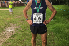 Ian Stokes after running 31:46 at the Mid Kent 5