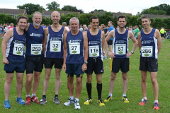 Canterbury Harriers win the team prize at the Staplehurst 10K