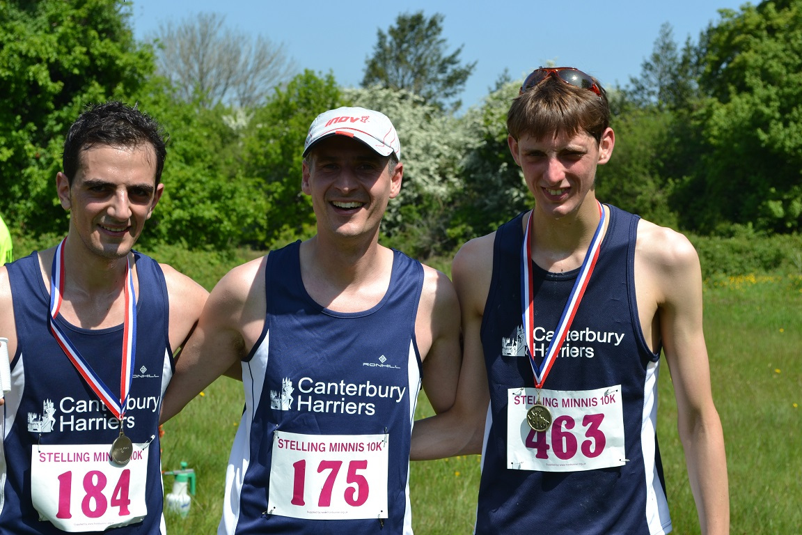 Canterbury Harriers win the team prize with an excellent performance at the Stelling Minnis 10K.