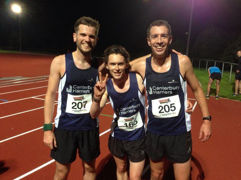 Track Athletics 5K. Race 2nd place Tom Purnell, Race 3rd place Simon Jones. Race Series Winner Tom Millard.