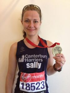 Sally Canterbury Harriers Marathon Photo
