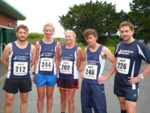 Canterbury Harriers at the Road Athletics Aylesham 10k
