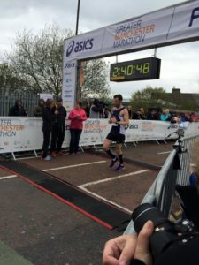 Tom Millard Greater Manchester Marathon